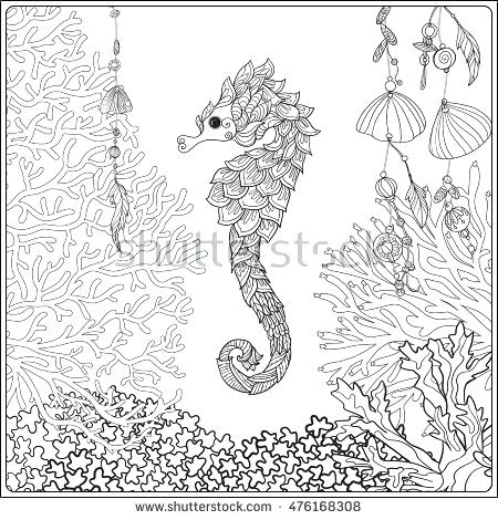 450x470 Coral Reef Fish Coloring Page Coral Reef Collection Corals Fish