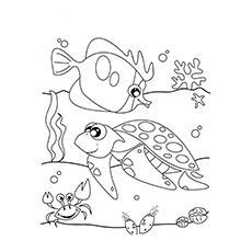 Sea Creatures Coloring Pages At Getdrawings Com Free For Personal