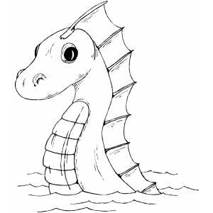 300x300 Sea Serpent Coloring Page