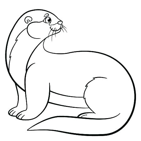 450x450 Sea Otter Coloring Pages S S Sea Otter Colouring Pages