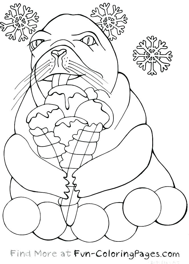 663x925 Coloring Sea Otter Coloring Pages Printable Winter Fun Ice Cream