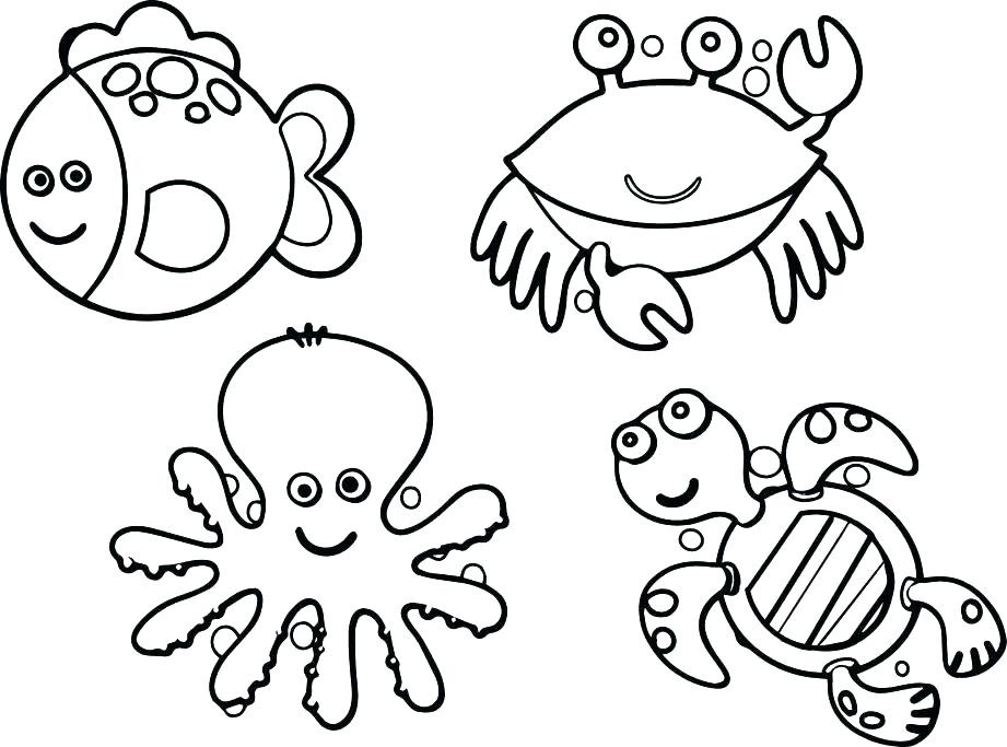 921x683 Sea Plants Coloring Pages Coloring Pages Turtles With Sea Plants