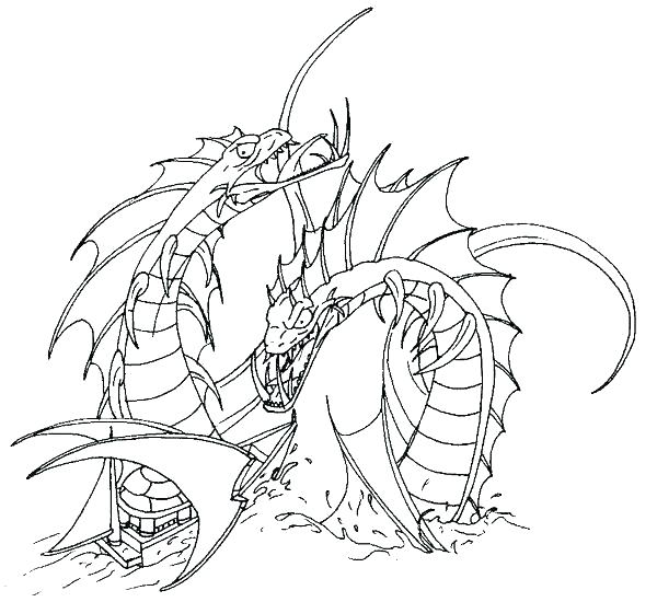 600x550 Sea Serpent Coloring Pages In Coloring Page Dragon Sea Serpent