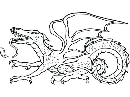 440x330 Sea Serpent Dragon Coloring Page Colouring Pages Snake Water