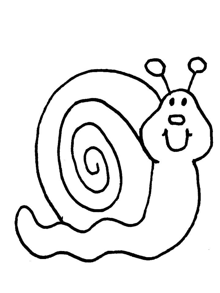 718x957 Snails Coloring Page