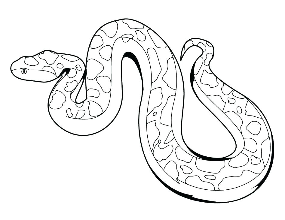 948x733 Snake Coloring Page Snake Coloring Pages With Snake Coloring Page