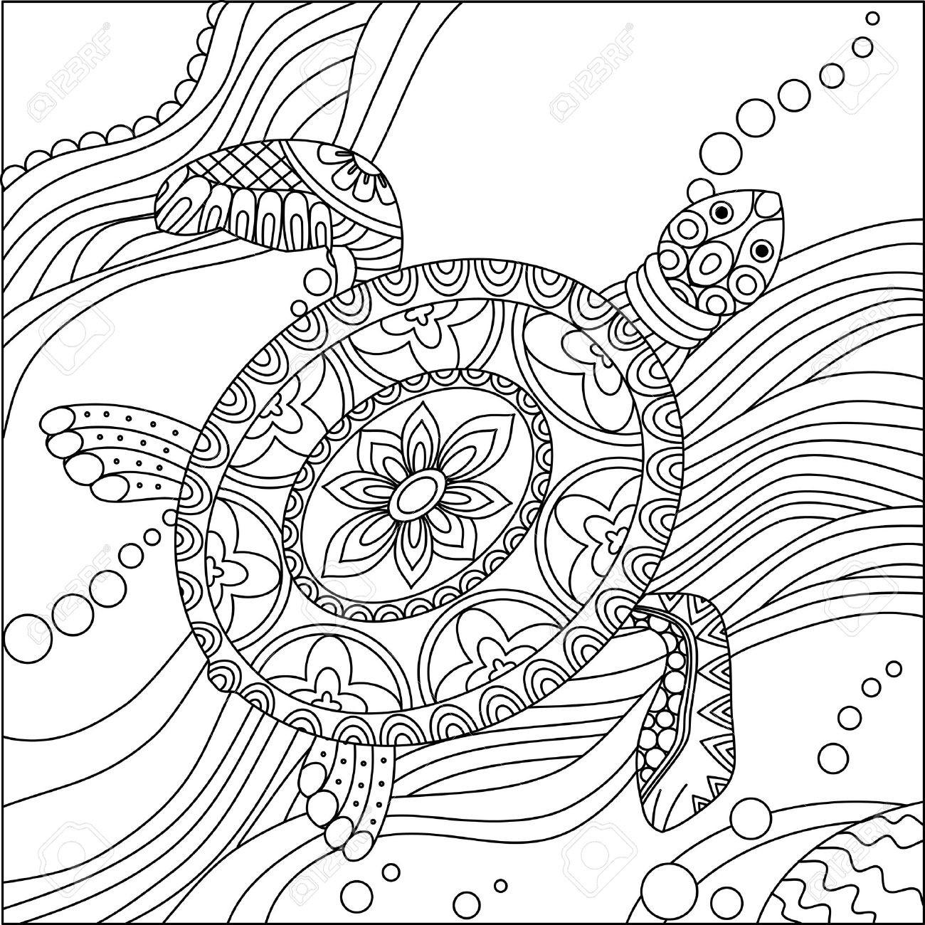 1300x1300 Sea Turtle Coloring Page Elegant Sea Turtle Doodle Hand Drawn