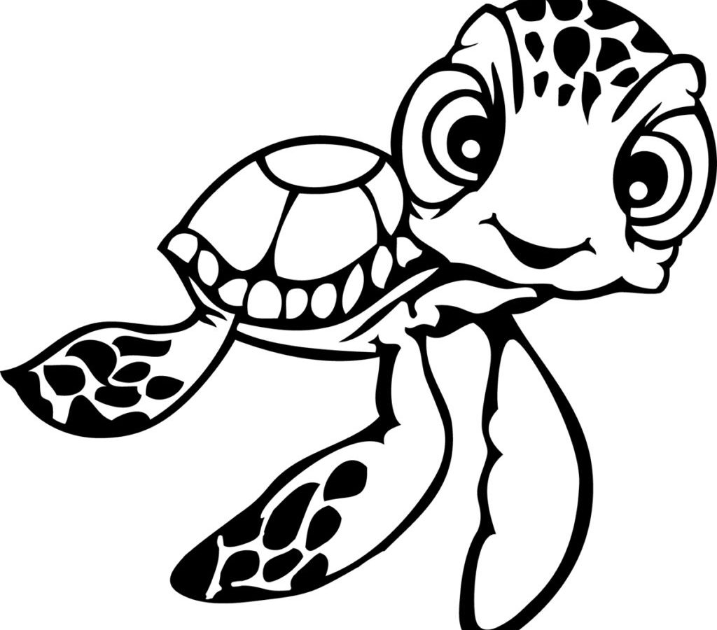 1024x900 Sea Turtle Coloring Pages With Fish Page Free Printable Animals