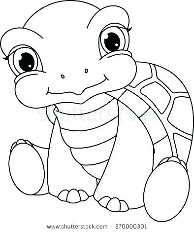 394x470 Turtle Coloring Page Green Sea Turtles Coloring Pages Turtle
