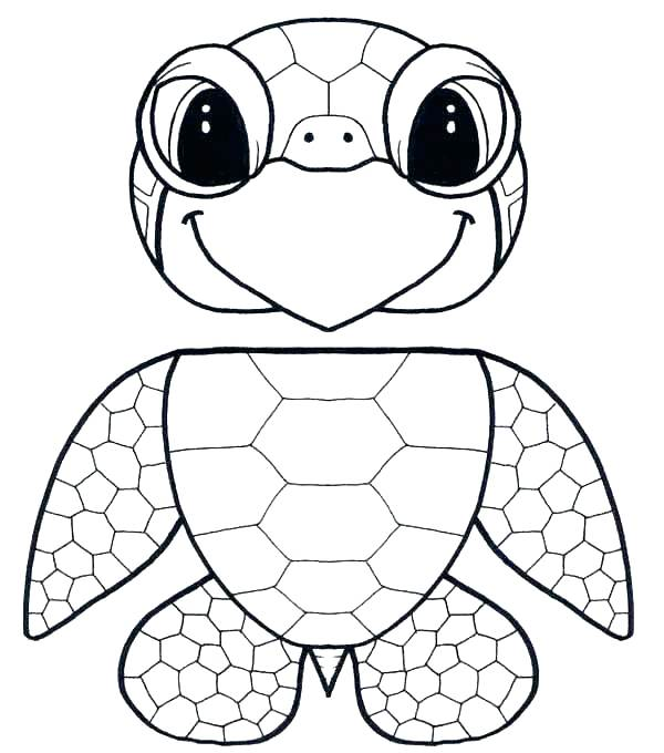 600x680 Sea Turtle Coloring Page