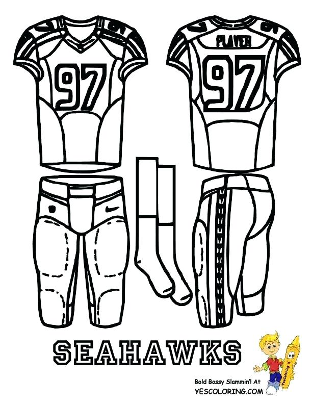 612x792 Seahawks Coloring Pages Football Uniform Coloring Page At Seahawks