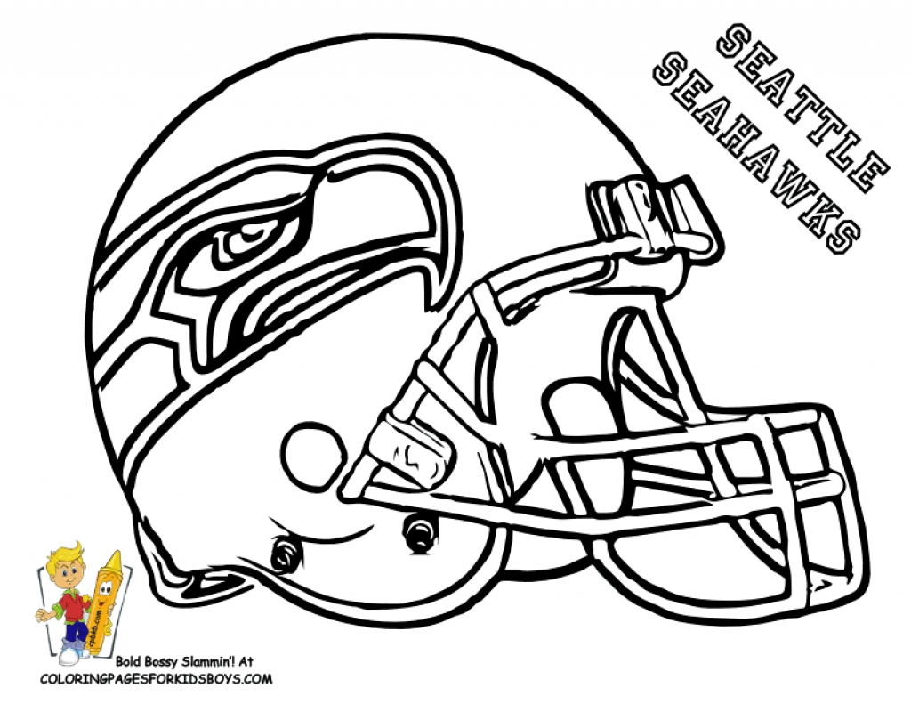 1024x791 Seahawks Coloring Pages Free Seattle Page Have Kids Color And Add