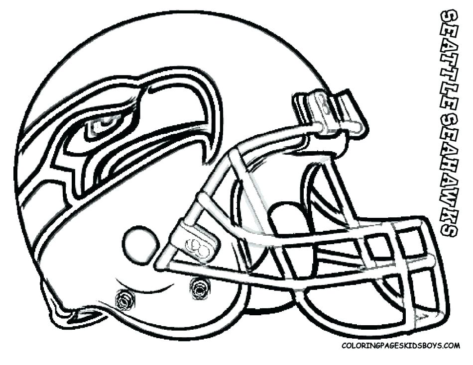 950x734 Seattle Seahawks Colouring Pages
