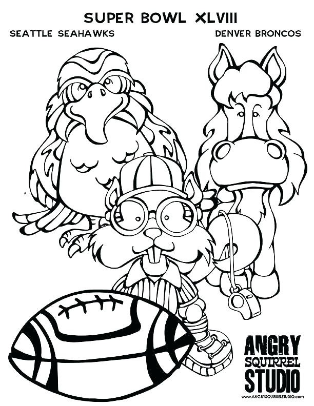 612x792 Awesome Seattle Seahawks Coloring Pages