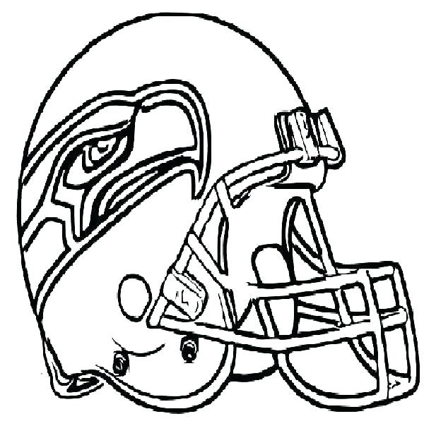 600x597 Seattle Seahawks Coloring Page Helmet Coloring Page Football