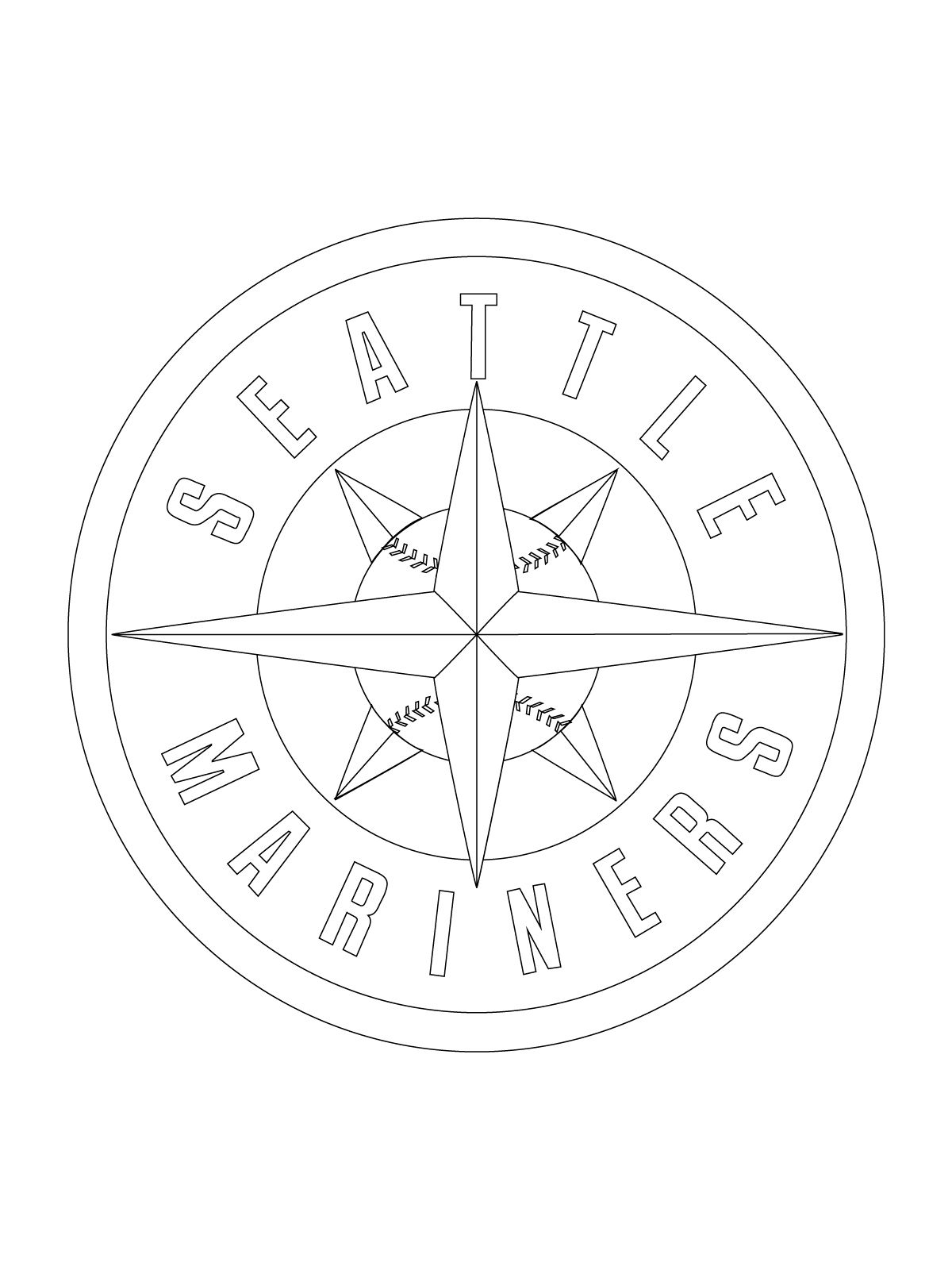 1200x1600 Seattle Mariners Logo Coloring Page Super Coloring Seattle
