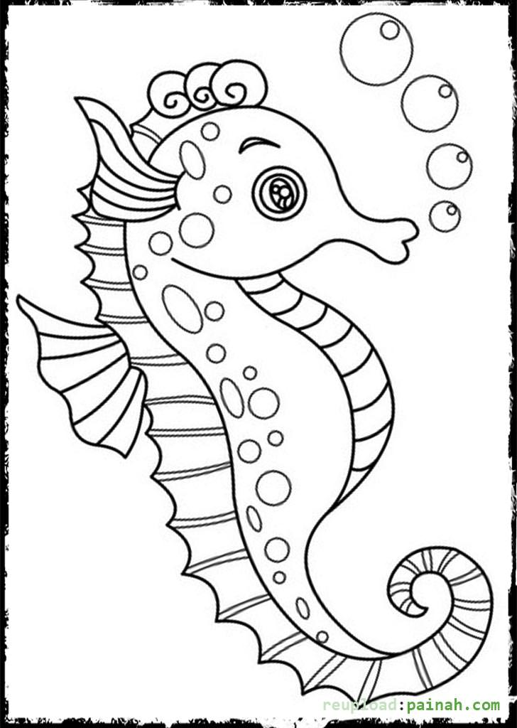 728x1024 Seahorse Coloring Pages To Download And Print For Free