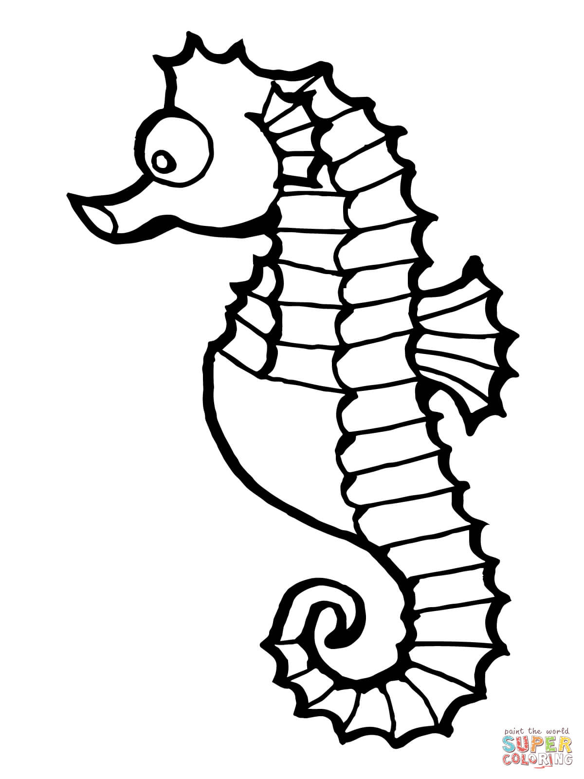 1200x1600 Trend Seahorse Coloring Pages On Coloring For Kids
