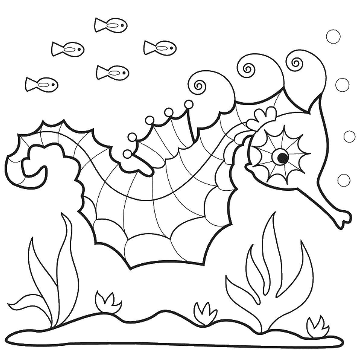 1200x1200 Free Printable Seahorse Coloring Pages For Kids Best Acpra