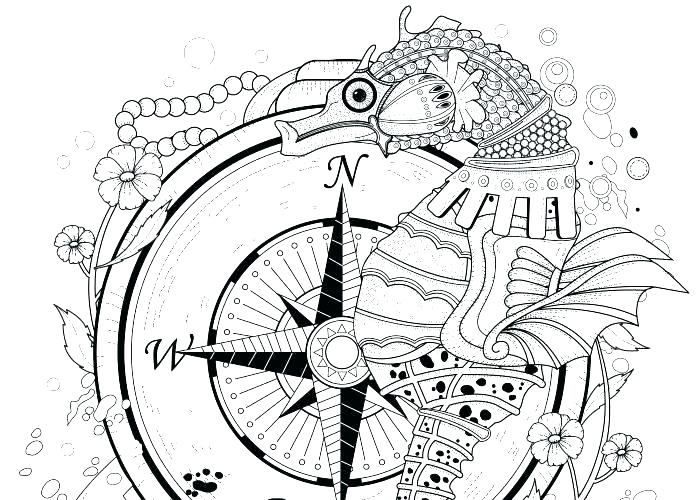 700x500 Seahorse Coloring Pages Cute Seahorse Coloring Pages Page For Kids