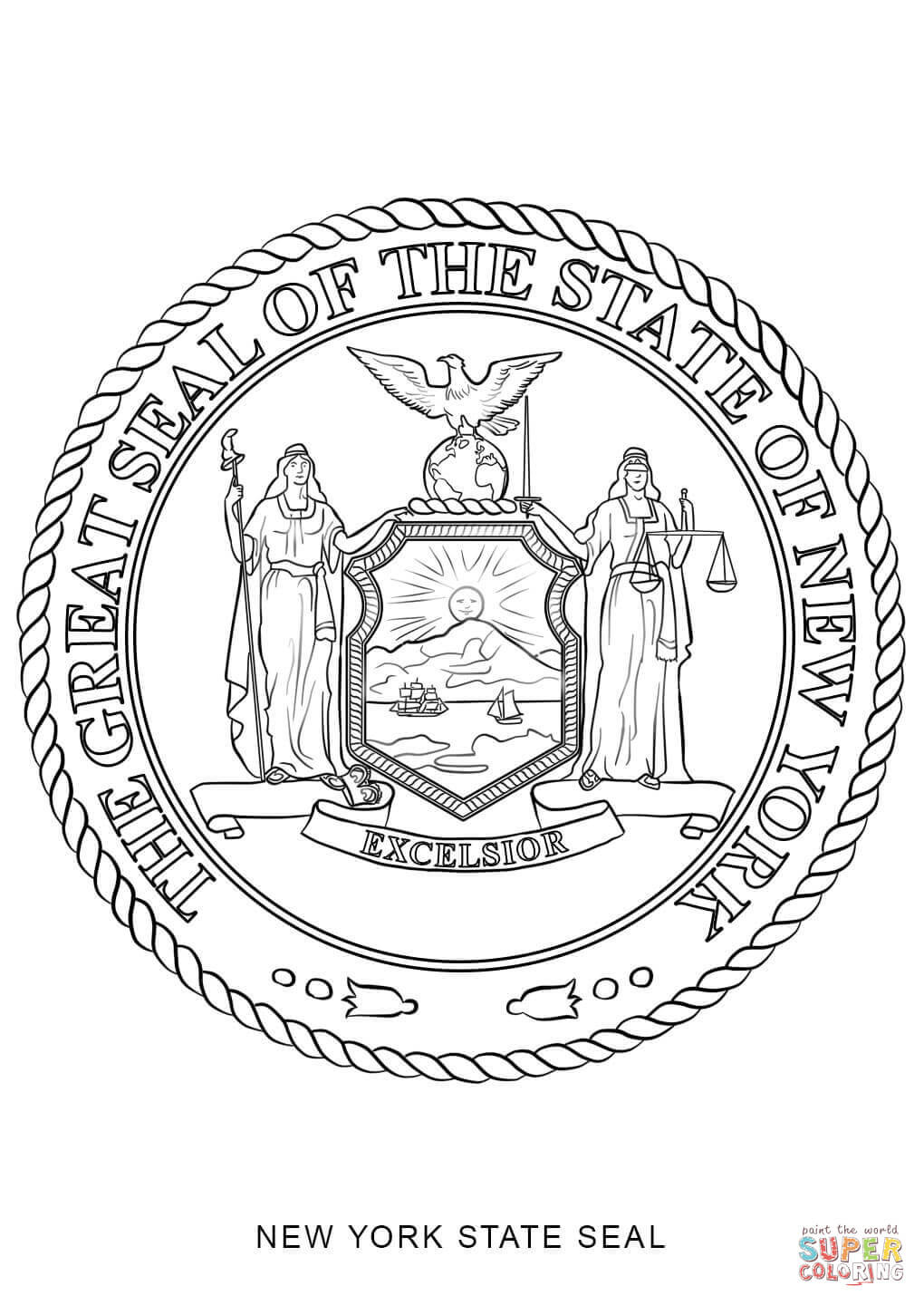 1020x1440 New York Yankees Coloring Pages Free New New York State Seal