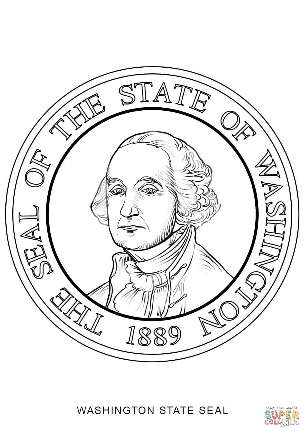 1020x1440 Washington State Seal Coloring Page Free Printable Pages