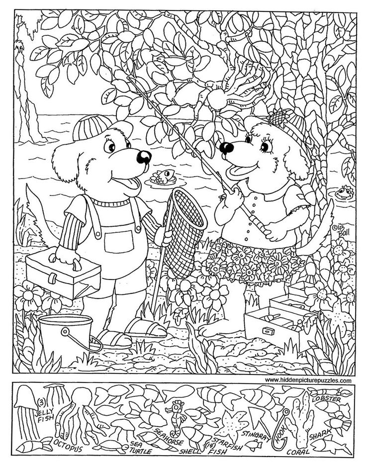 Search And Find Coloring Pages