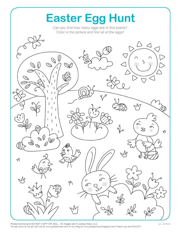 612x792 Easter Coloring Pages {kids Activities} Hidden Pictures, Easter