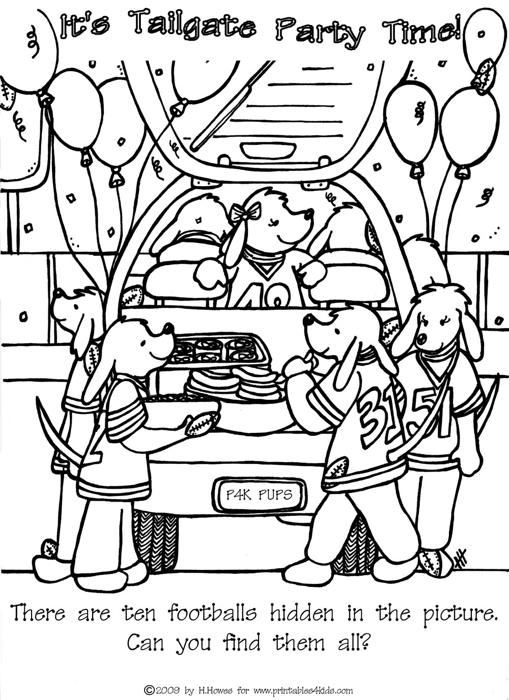 1000x1376 Find The Hidden Footballs Tailgate Printables For Kids Free