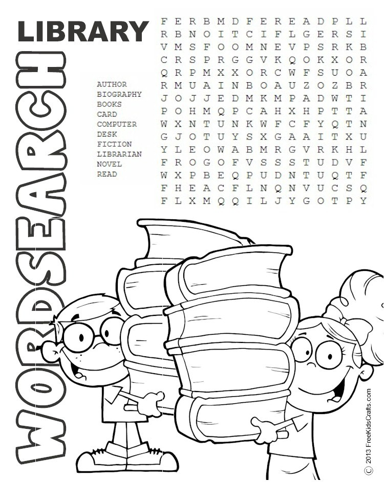 750x943 Printable Library Word Search