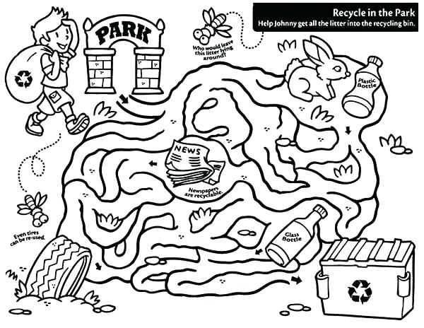 600x464 Recycling Search And Find Coloring Page Recycling Coloring Pages