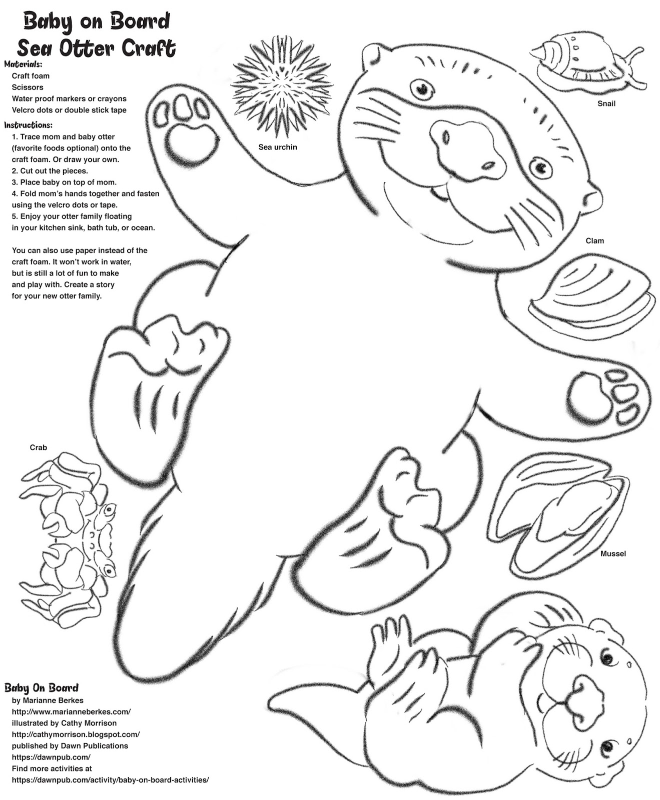 1319x1600 Sea Otter Floating Coloring Pages Printable Coloring For Kids