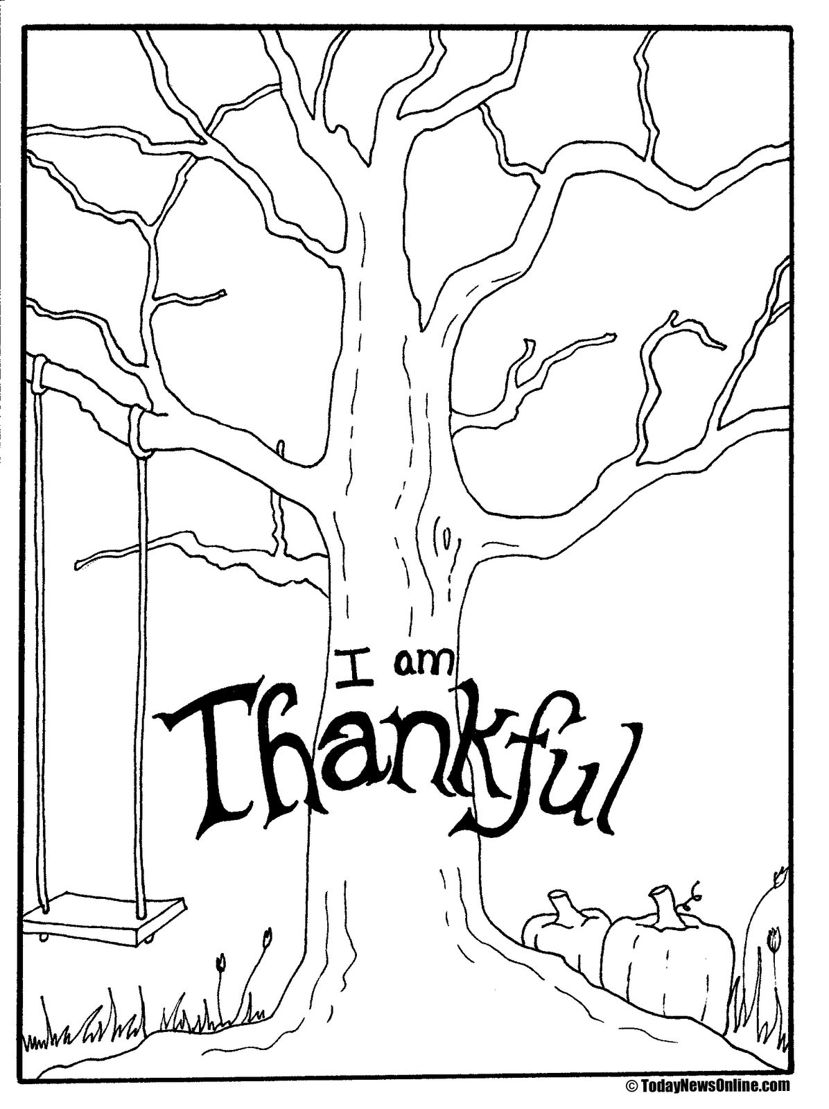 1196x1600 Thanksgiving Search And Find Coloring Page