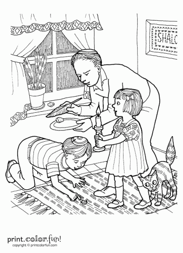 363x500 Passover Search For Chametz Coloring Page