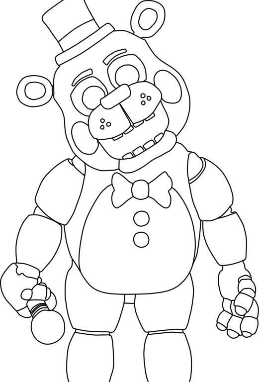 521x768 Freddy Fazbear Coloring Page Five Nights