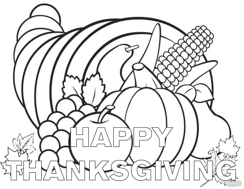 1000x773 Fine Free Printable Thanksgiving Educational Printables Coloring