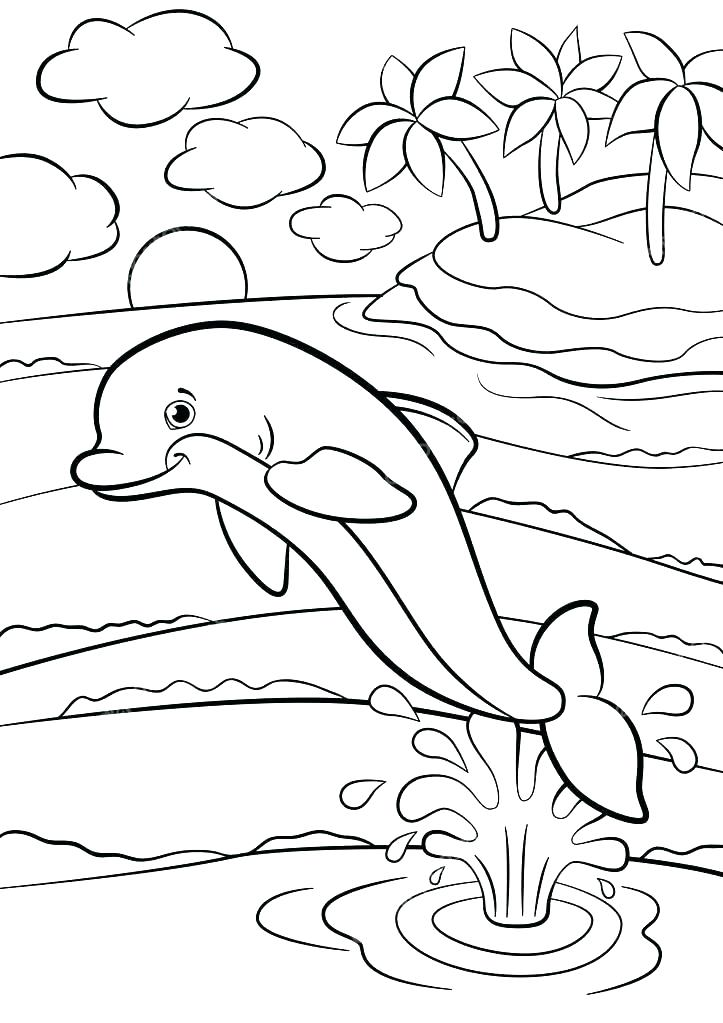 723x1023 Marine Coloring Page Marine Coloring Pages Seascape Ocean