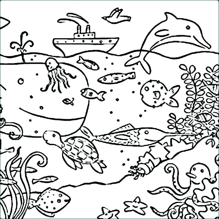 768x768 Free Ocean Coloring Pages