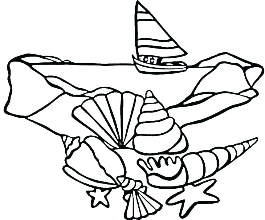 860x716 Sea Shell Coloring Pages Sea Shells Coloring Pages Sea Shell
