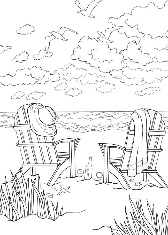 Seashore Coloring Pages