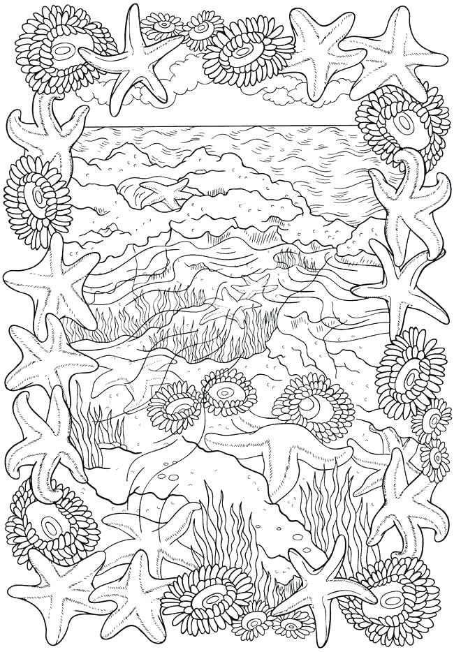 650x934 Passport Coloring Page Ocean Scene Bliss Seashore Book Your