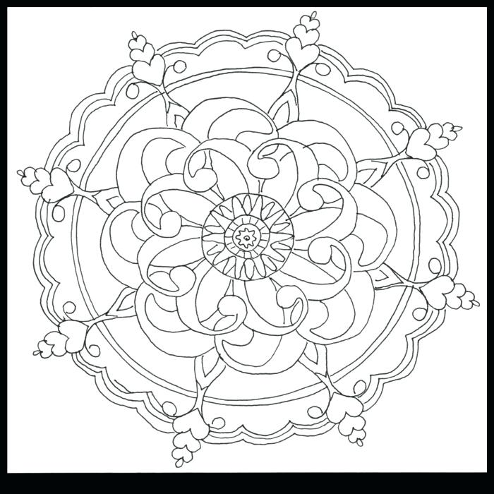 700x700 Pattern Coloring Pages Seashore Coloring Page Ocean Flower Pattern