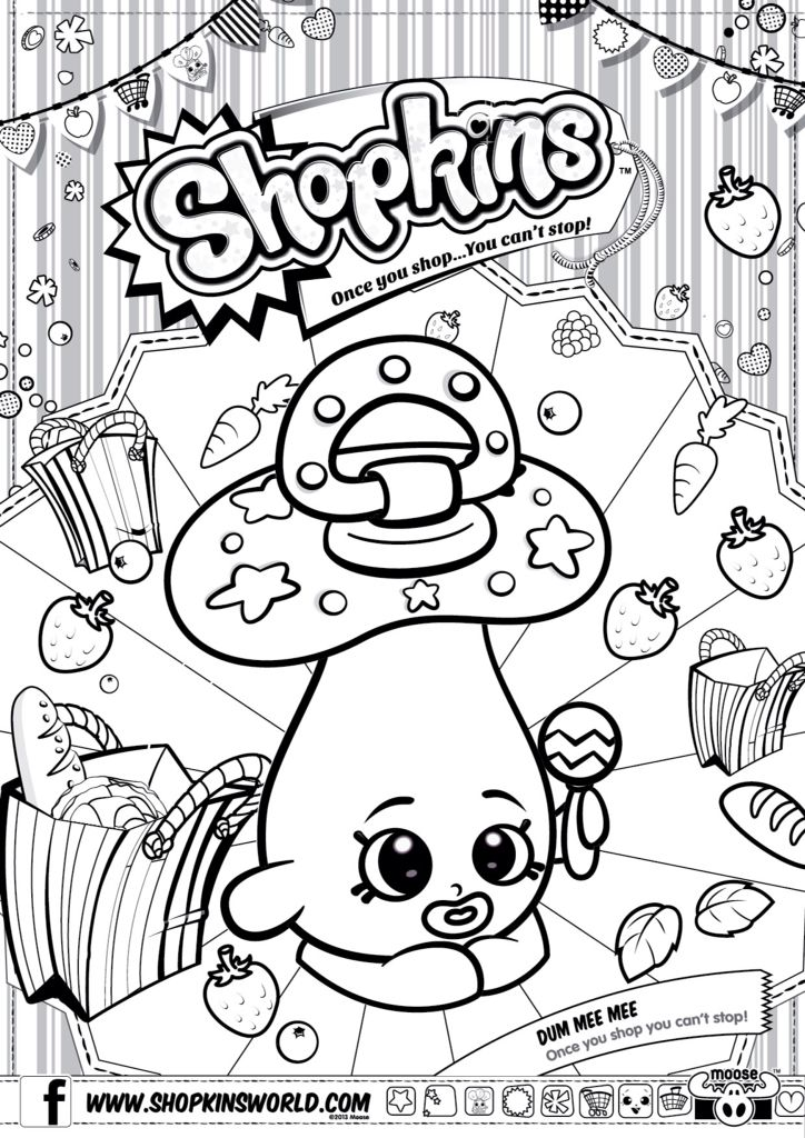 Season 4 Shopkins Coloring Pages