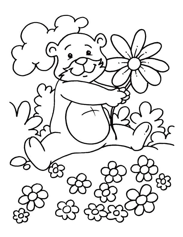 612x792 Lovely Spring Season Coloring Pages Spring Coloring Pages