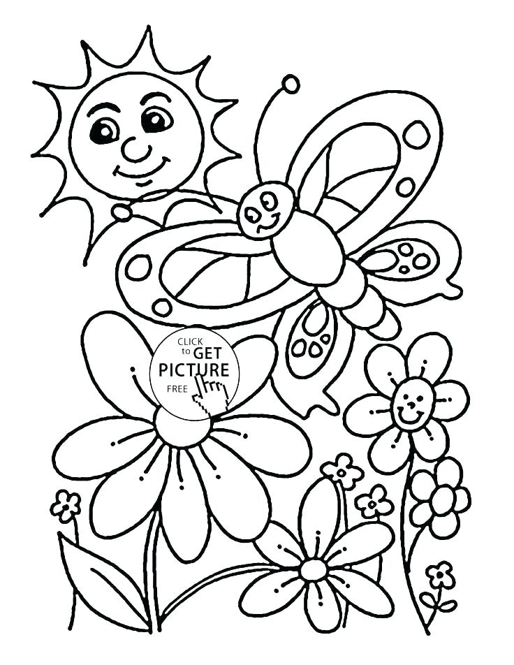736x952 Seasons Coloring Page Coloring Page Spring Coloring Page Spring