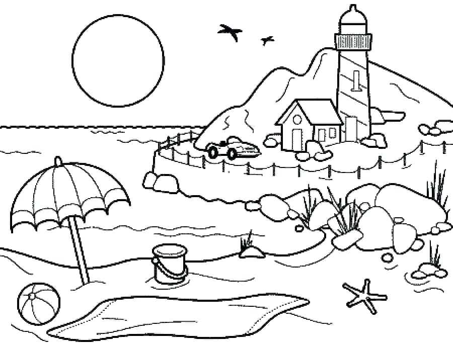 900x688 Summer Coloring Pages Kids Collection Summer Coloring Page