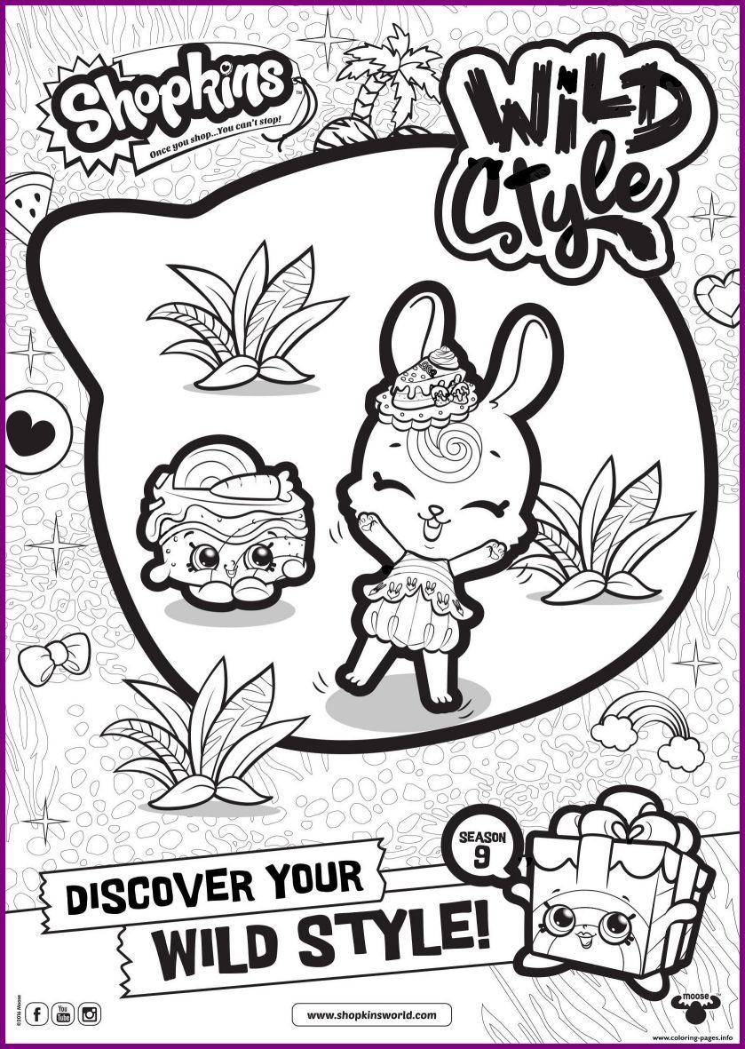 839x1181 Appealing Shopkins Season Wild Style Coloring Pages Printable Pic