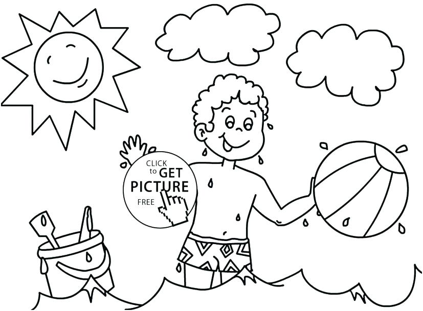 827x609 Free Summer Coloring Sheets Seasons Coloring Pages Free Summer