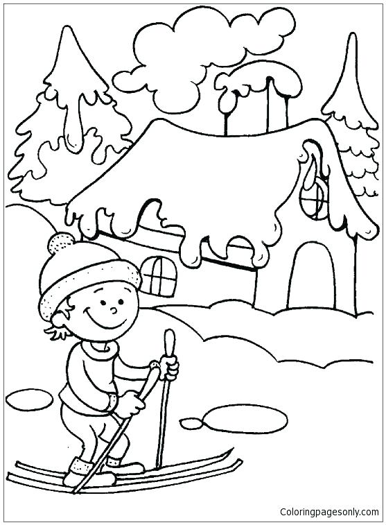 557x757 Seasons Coloring Page Four Seasons Coloring Pages