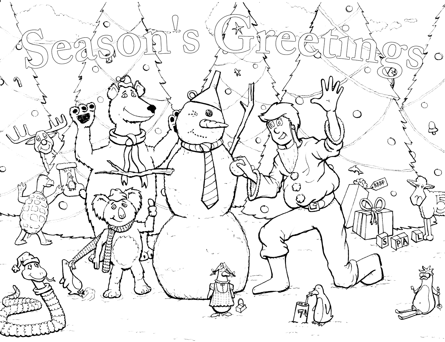 1500x1154 Seasons Coloring Pages Seasons Greetings Coloring Pages Kids
